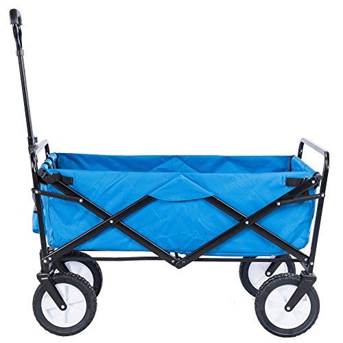 Serenita Collapsible Garden Cart Folding Utility Wagon Shopping Yard Beach  Blue U003eu003eu003e Check Out The Image By Visiting The Link.