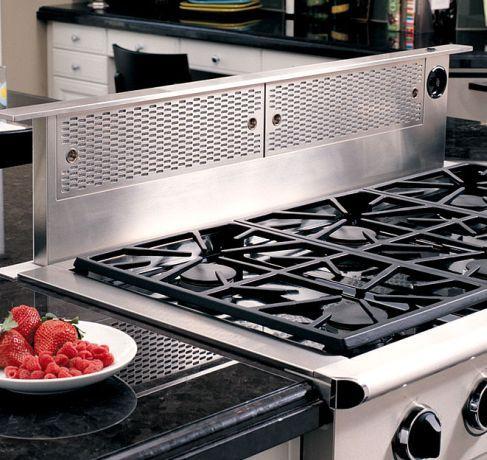 Erv48 Er Dacor Renaissance 48 Epicure Raised Downdraft Vent System Stainless Steel Dacor Kitchen Ventilation Kitchen Appliances