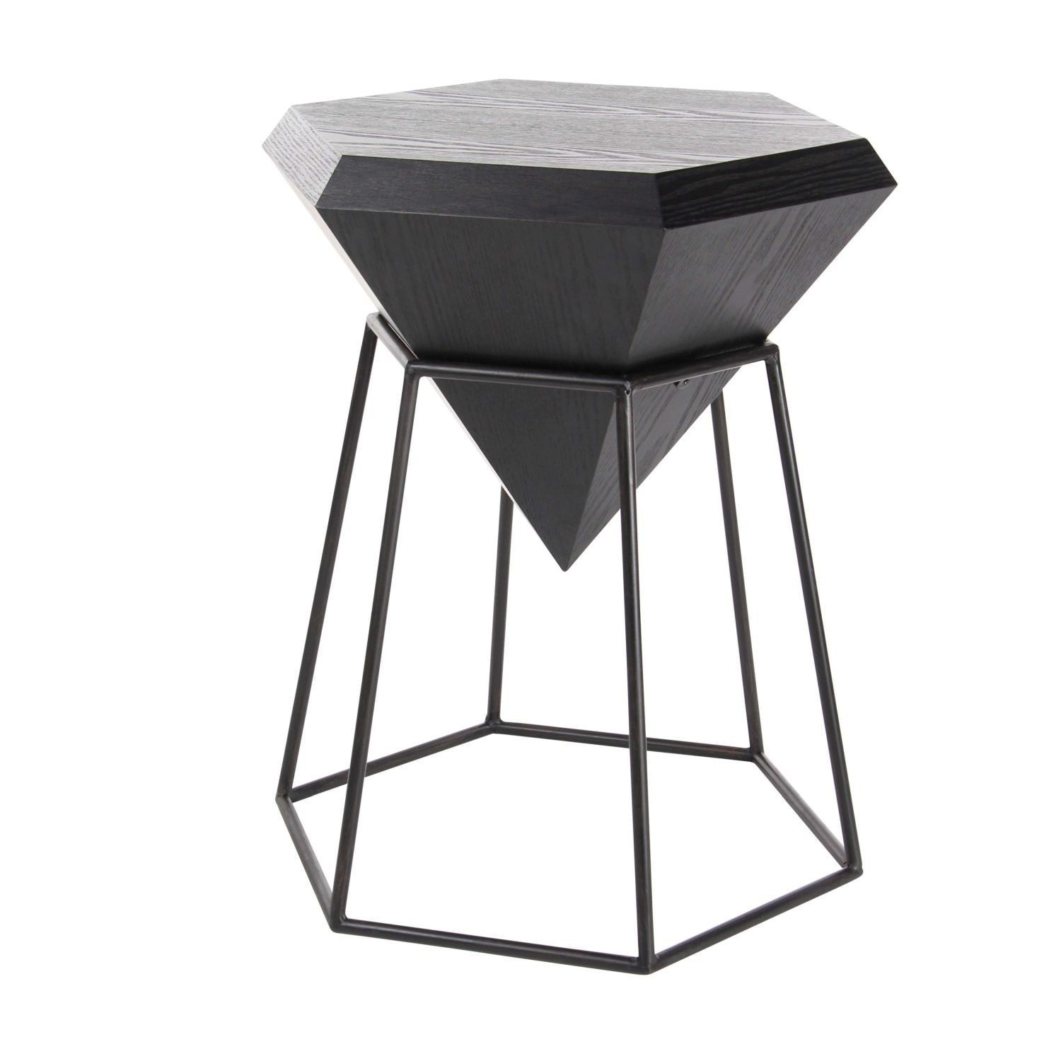 Studio 350 Wood Metal Diamond Accent Table 20 Inches Wide 25 High