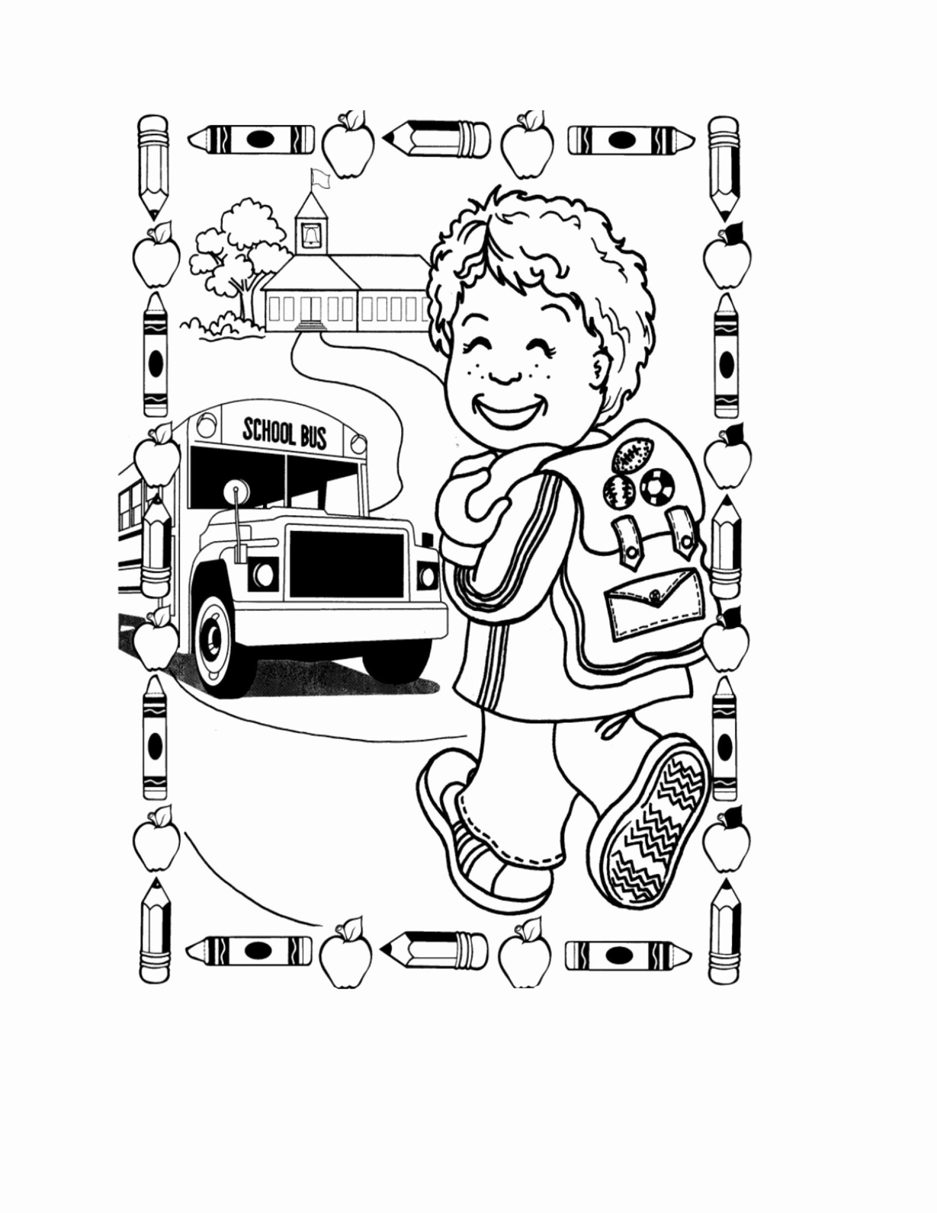 Pre K Coloring Sheets Printable Fresh 043 First Day School