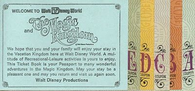 Vintage Disney Ticket I Have A Coupon Book But We