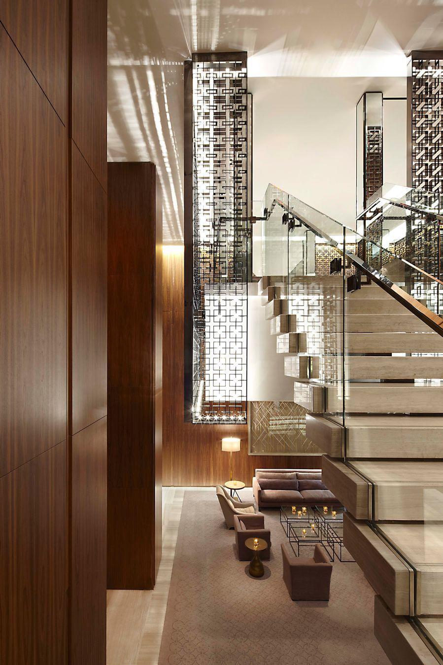 Four seasons hotel toronto designed by yabu pushelberg interior staircase staircase design interior