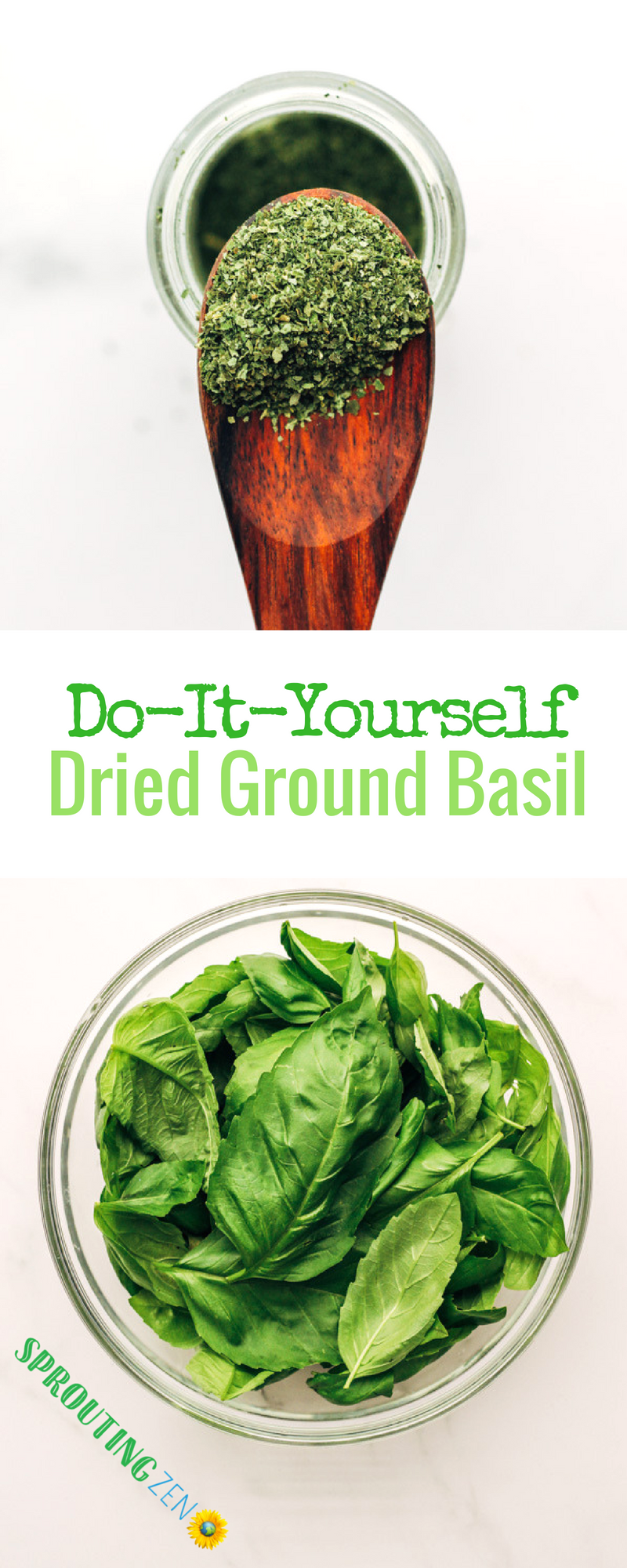 Do It Yourself Dried Powdered Basil