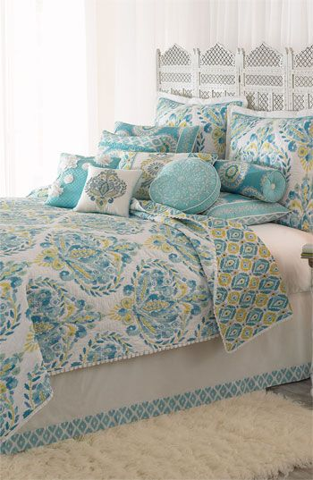 Love this with turquoise walls, white linens. Dena Home 'Breeze ... : dena home sunbeam quilt - Adamdwight.com