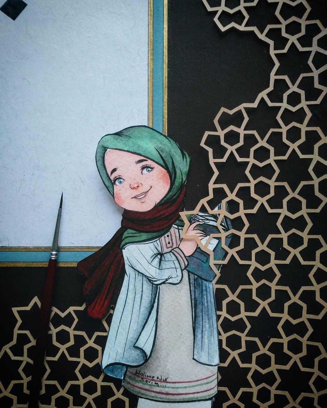 gambar kartun muslimah 6 sahabat | Kartun, Gambar, Seni ...