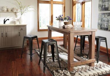 Pinnadel 5 Pc Rectangular Counter Height Dining Set
