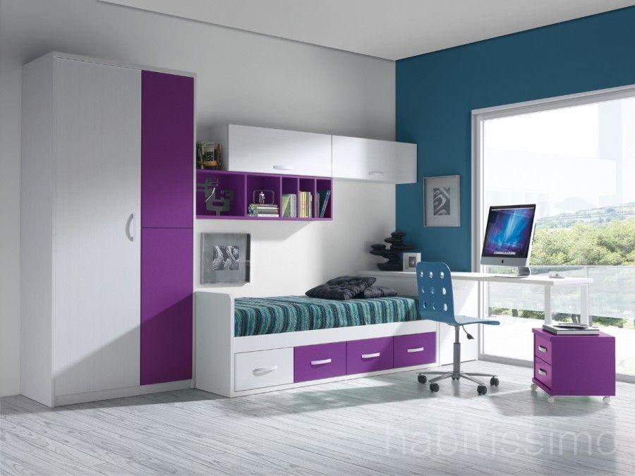 Dormitorio juvenil dormitorio ni os en 2019 Colores para habitaciones juveniles femeninas
