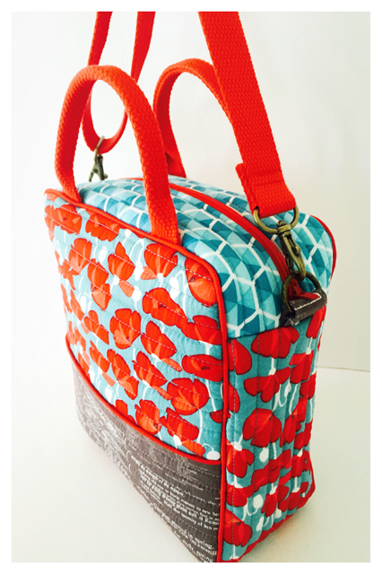 Cooler Bag by @CreamCraftGoods from Desert Bloom by Amanda Herring for Riley Blake Designs.