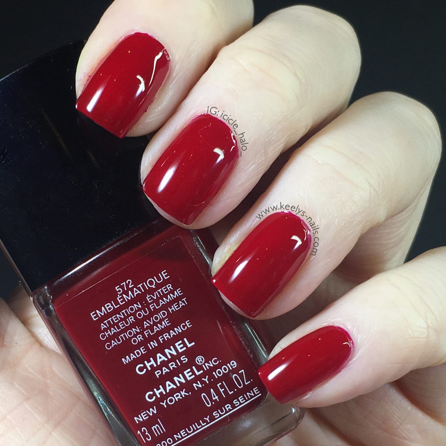Red Nails: Chanel Spring 2017 Swatches Emblematique Washed Denim