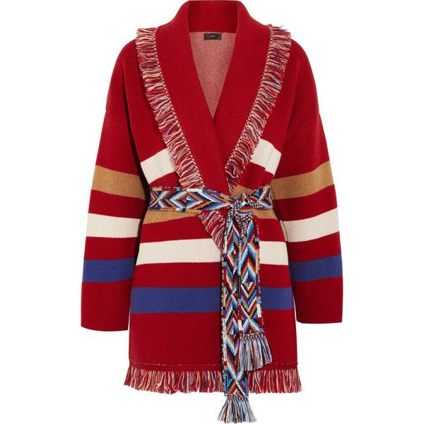 Sale For Sale Alanui striped knit cardigan Collections 2018 New Cheap Online 7h3g4d