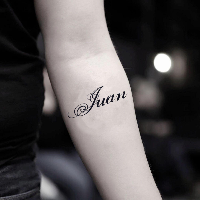 Juan Temporary Tattoo Sticker Set Of 2 Tatuajes De Nombres Tatoo De Nombres Tatuaje De Nombre