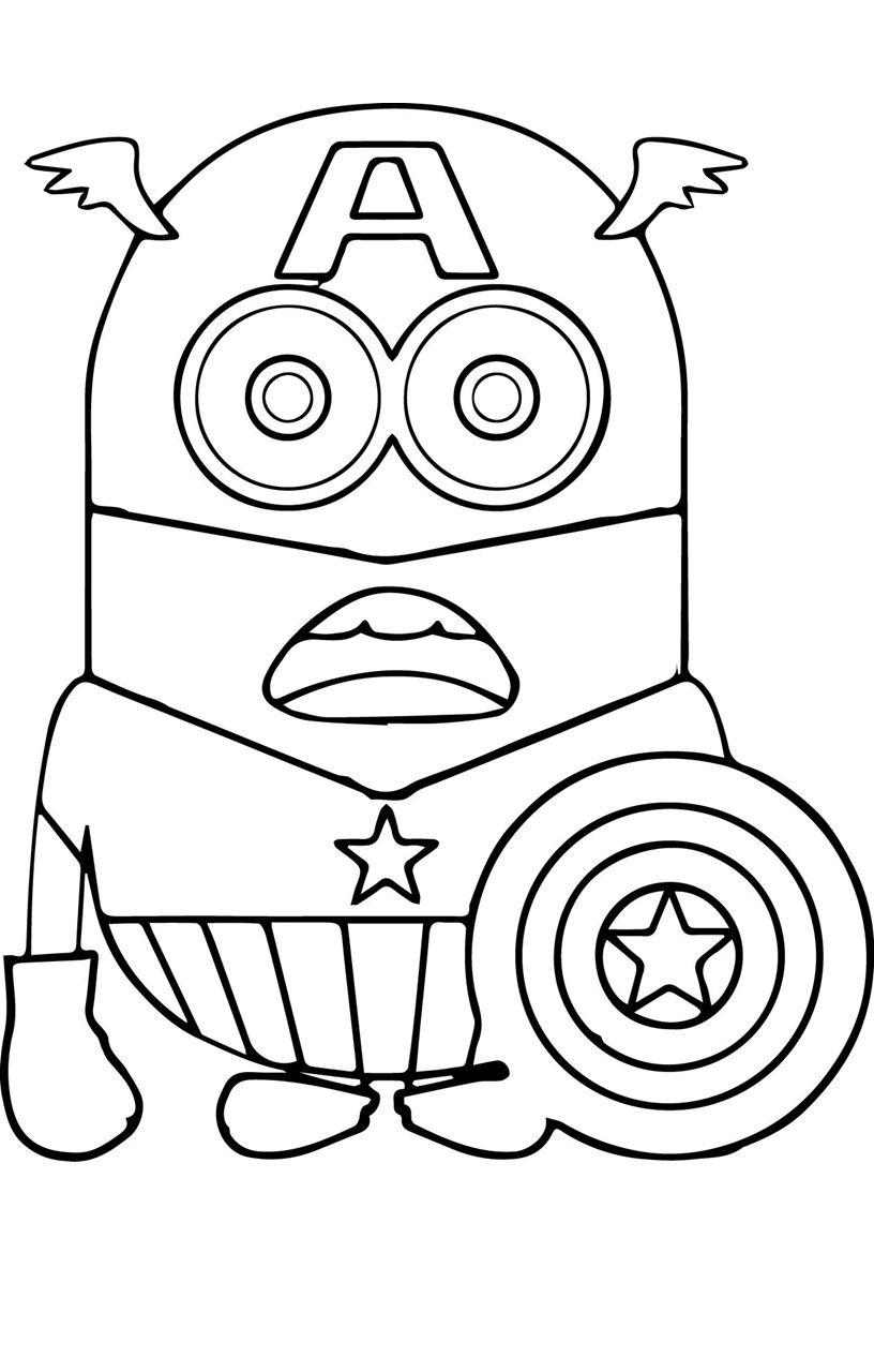 Printable Captain America Coloring Pages 14 Sheets