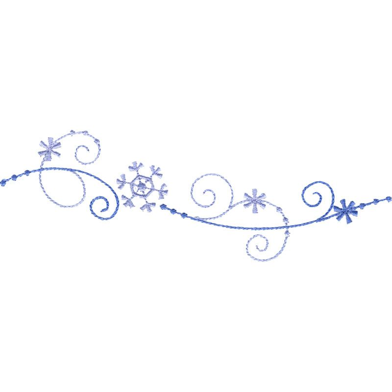 snowflake border 2 embroidery borders corners frames rh pinterest ie snowflake page border clipart snowflake clipart border free