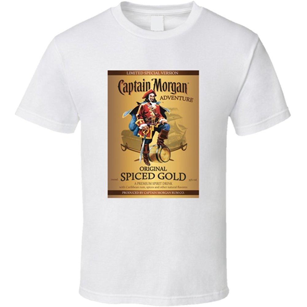 Captain Morgan Special Edition Spice Rum Label T Shirt L White Tunisex 01366 17 90 Captain Morgan Spiced Rum Rum