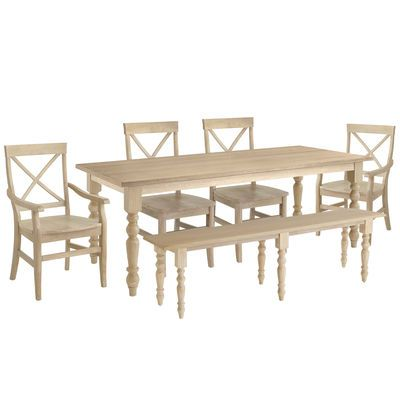 Build Your Own Torrance Natural Whitewash Turned Leg Dining Collection White Dining Room Sets Dining Furniture Sets French Country Dining
