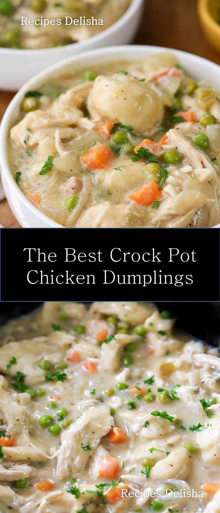 ★★★★★ 976 Riviews : Recipe Delisha ==>Crock Pot Chicken Dumplings #Crock #Pot #Chicken #Dumplings Easy Crock Pot Chicken and Dumplings. Juicy chicken breasts cook to tender perfection in the slow cooker in a rich creamy sauce. Shortcut dumplings make this delicious comforting meal effortless. #chickendumplingscrockpot ★★★★★ 976 Riviews : Recipe Delisha ==>Crock Pot Chicken Dumplings #Crock #Pot #Chicken #Dumplings Easy Crock Pot Chicken and Dumplings. Juicy chicken breasts co
