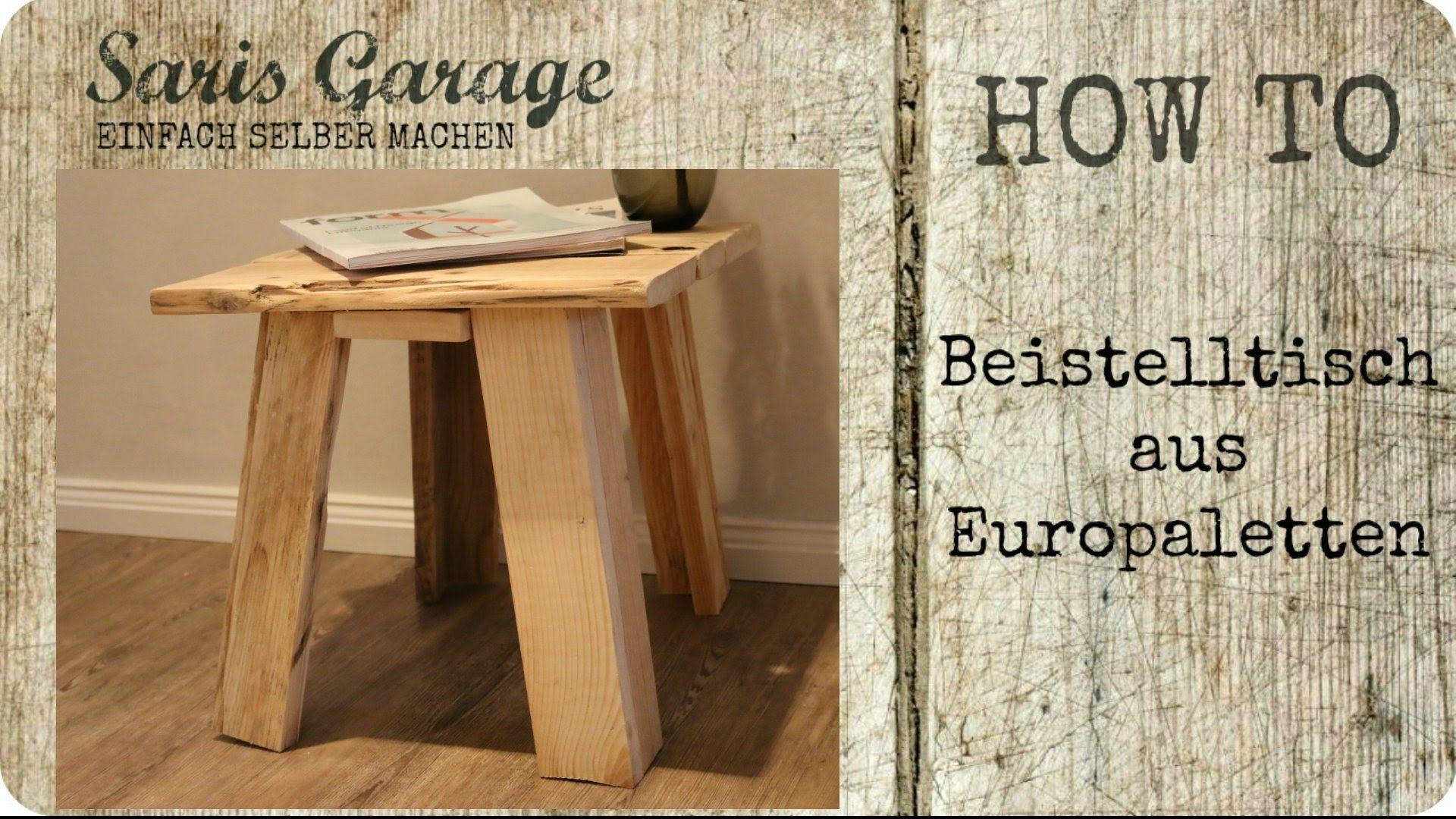 Tisch Aus Paletten Bauen beistelltisch aus paletten selber bauen upcycling diy vintage