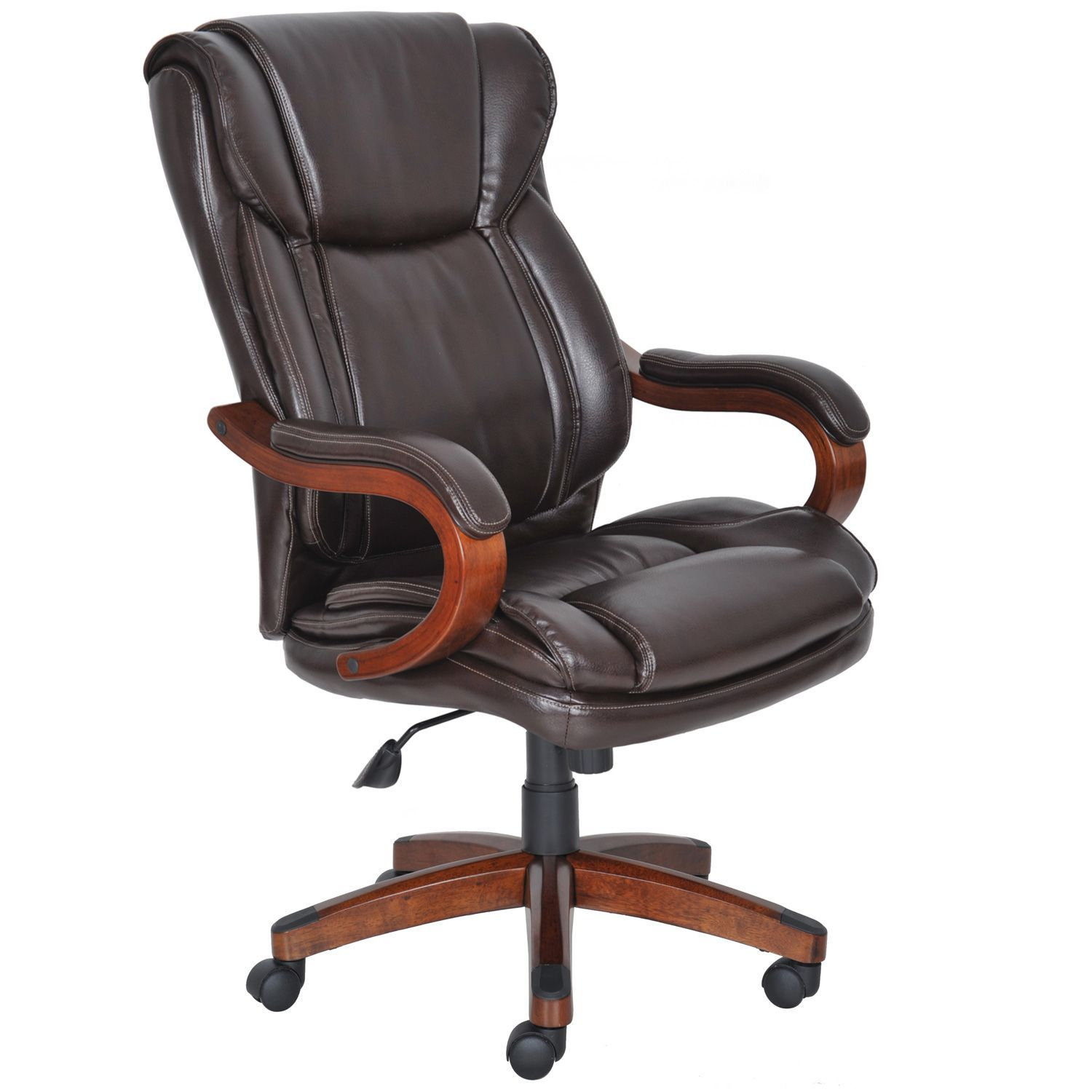 Lane Big Tall Bonded Leather Executive Chair Frye Chocolate
