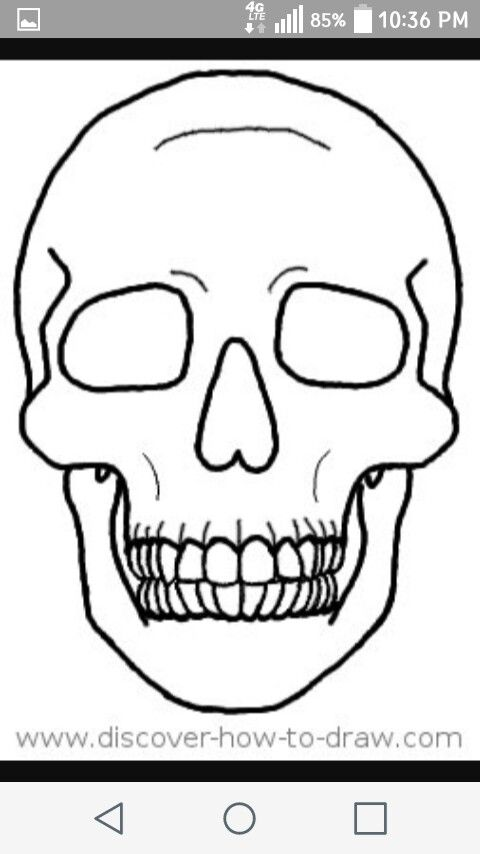 Cartoon Drawing Skull Head