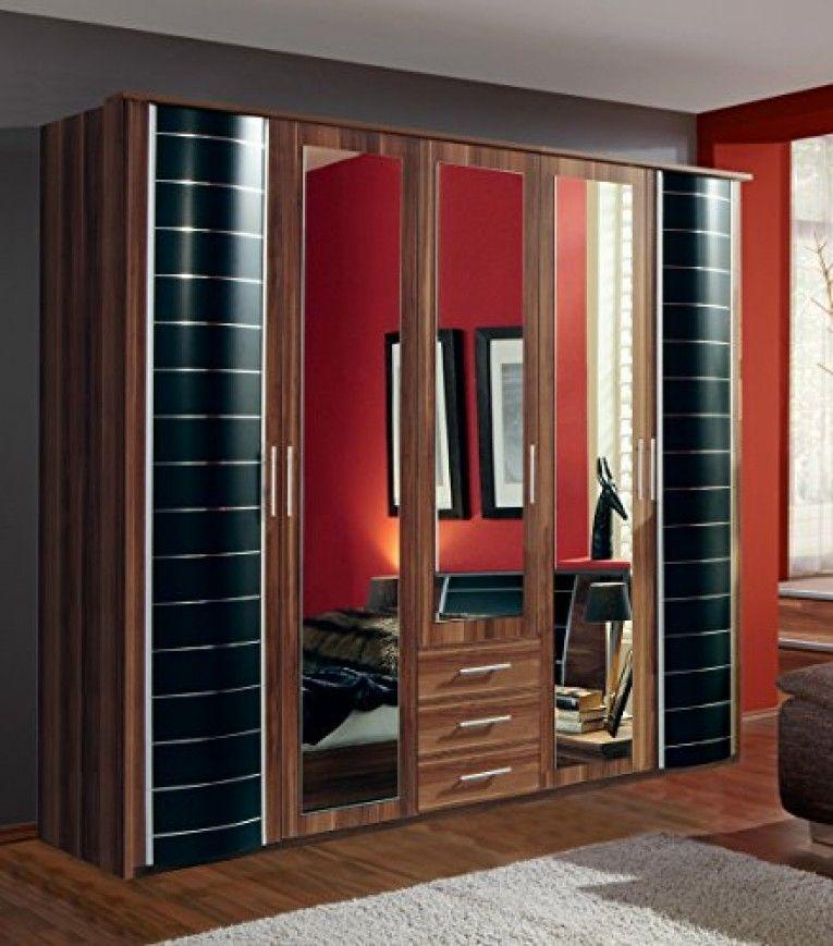 Wardrobe German Made Walnut Black Wimex 5 Doors U0026 3 Drawers 7 Star Furniture  German Made Best Guaranteed Quality Direct Seller, 5 Doors 225 Cm