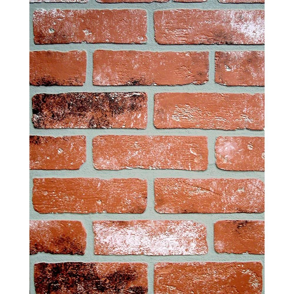 1 4 In X 48 In X 96 In Kingston Brick Hardboard Wall Panel 278844 The Home Depot Brick Wall Paneling Faux Brick Walls Faux Brick
