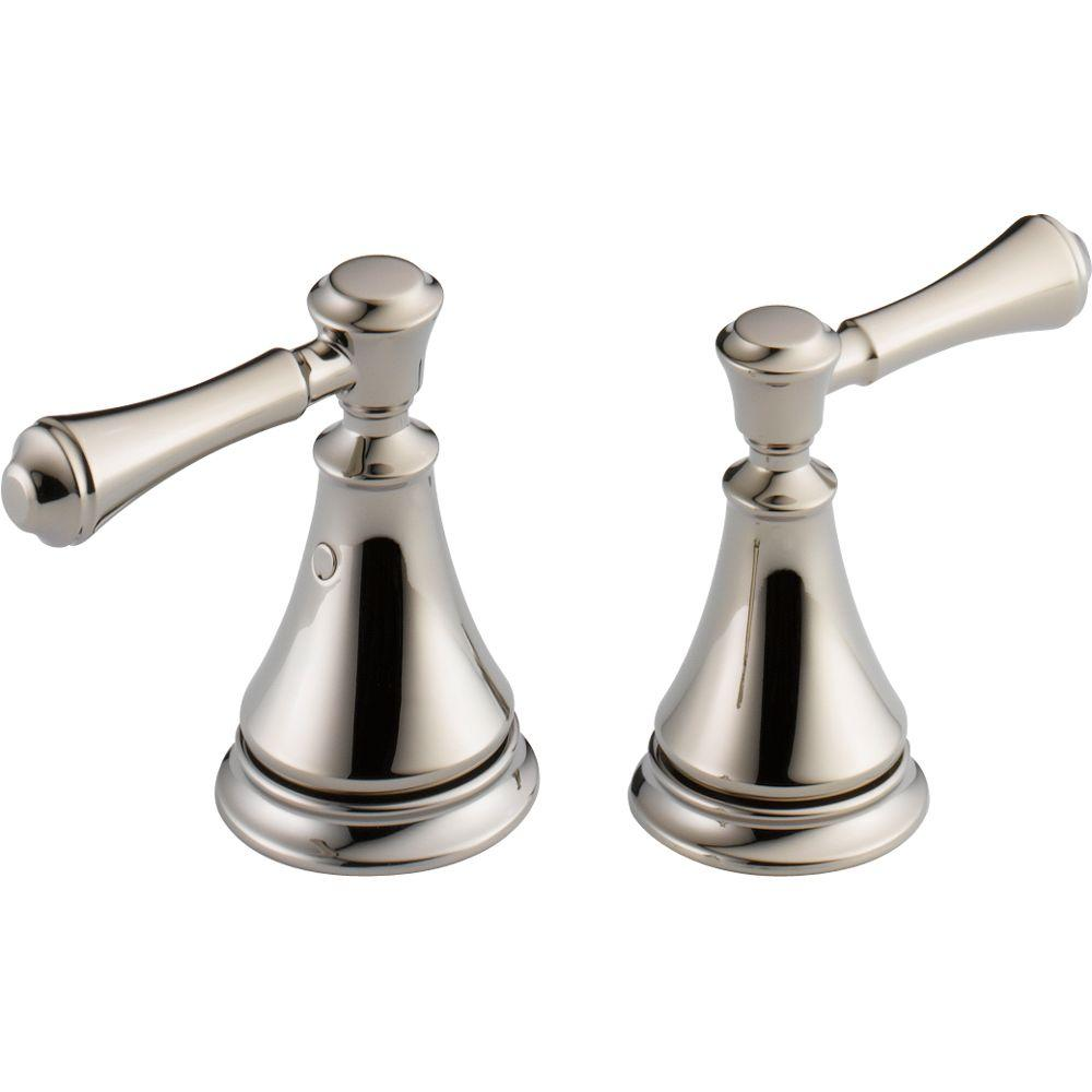 Delta Pair Of Cassidy Metal Lever Handles For Bathroom Faucet In