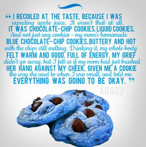 Image result for blue chocolate chip cookies