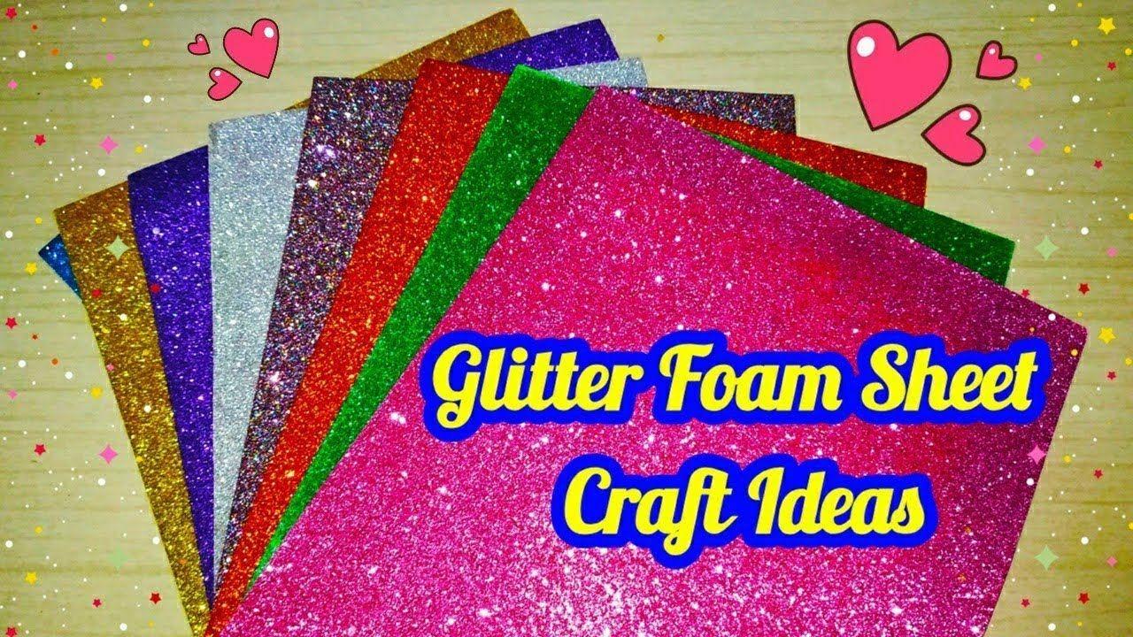 Glitter Paper Crafts   Glitter Foam Sheet Craft Ideas   Christmas Ornaments diy   sweety ...
