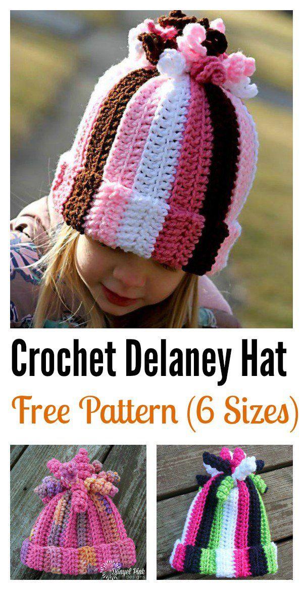 Cute Delaney Hat Free Crochet Pattern | Modelos lindas, Ganchillo y ...