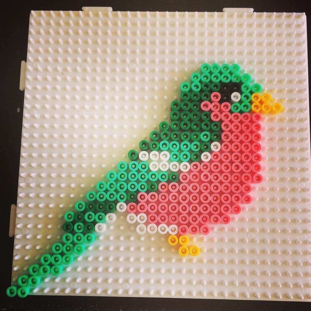 bird hama beads by sarawibbsdesign perler bead ideas. Black Bedroom Furniture Sets. Home Design Ideas