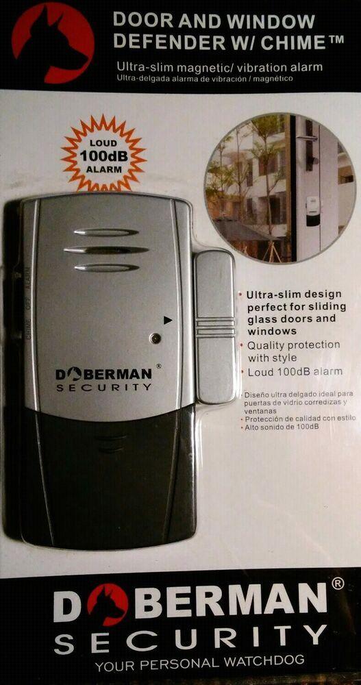 Systemy monitorowania Doberman Security SE-0101C Magnetic Window/Door Defender w/ Chime Vibrate Alarm Majsterkowanie