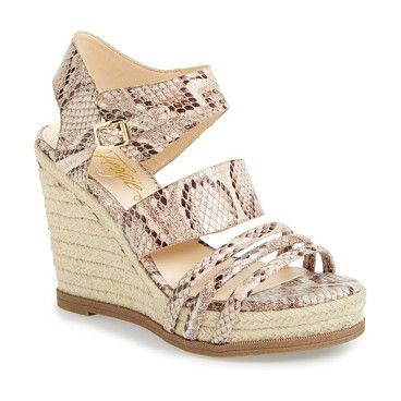1a2ca402cbcf FERGIE annabelle nude wedge sandal found on Nudevotion