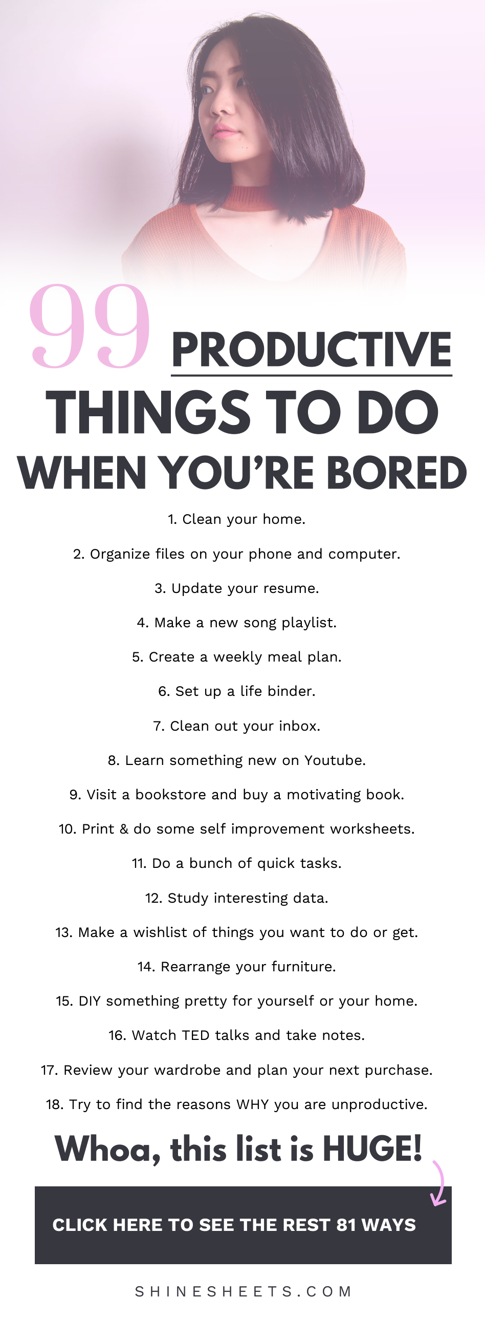 99 Productive Things To Do When You're Bored