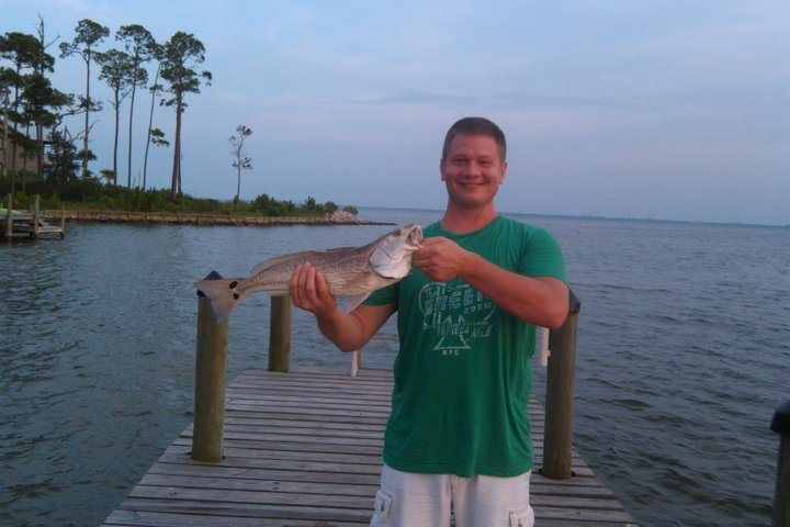 This picture of me holding a fish is supposed to remind you of Jonah, in my blog post about bitterness...