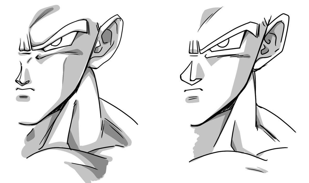 Dragon Ball Art References Particularly Tadayoshi S Style In 1995 Dbz Left And Currently Dragon Ball Artwork Anime Dragon Ball Super Dragon Ball Super Art