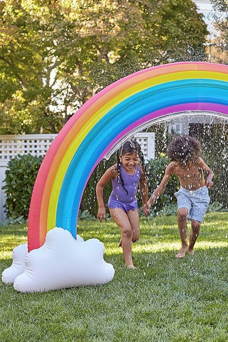 Add This Magical Inflatable Rainbow Sprinkler To The List