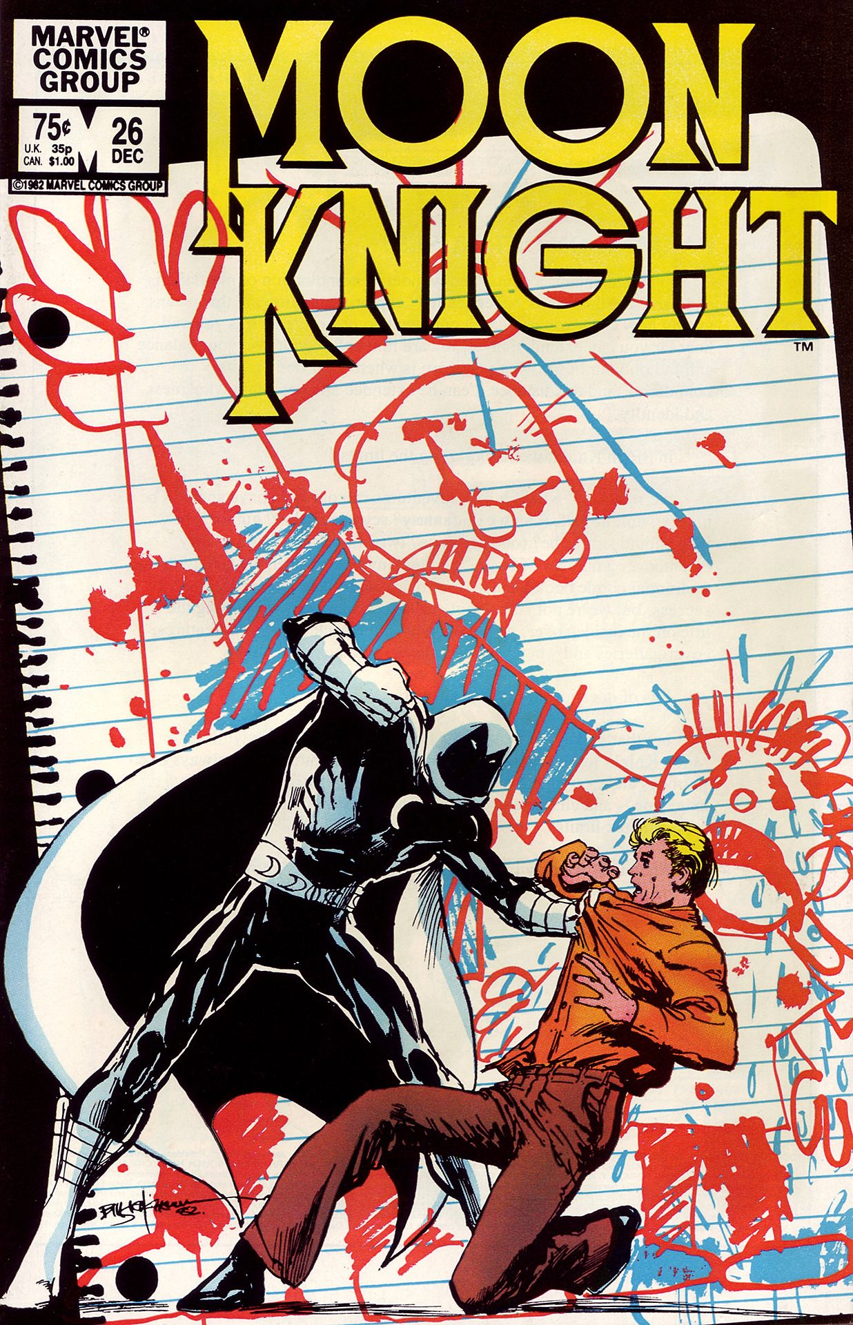 Moon Knight 26 Cover By Bill Sienkiewicz Moon Knight Comics Moon Knight Marvel Moon Knight