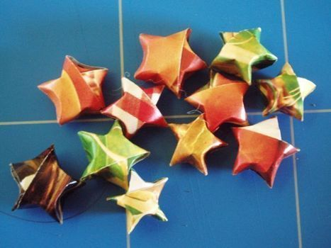Stars! And you can hide cute messages or fortunes inside to be unwrapped