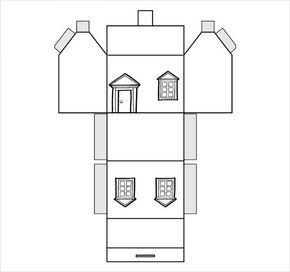 11 Paper House Templates Pdf Doc Con Imagenes Casas Para