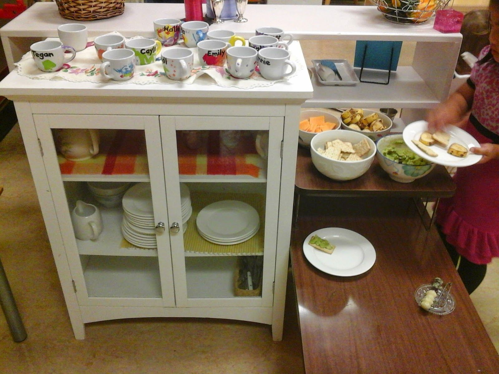 A Montessori Musing Place The Snack Table Snack Table Montessori Environment Table