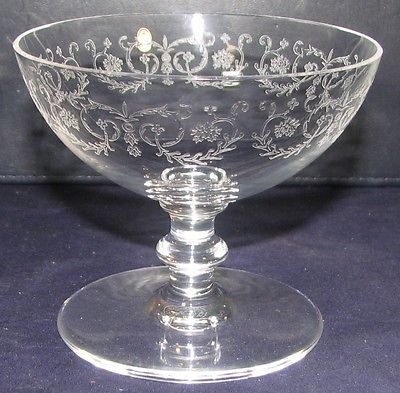 RARE Baccarat French Etched Full Lead Crystal Camilla Coupe ...
