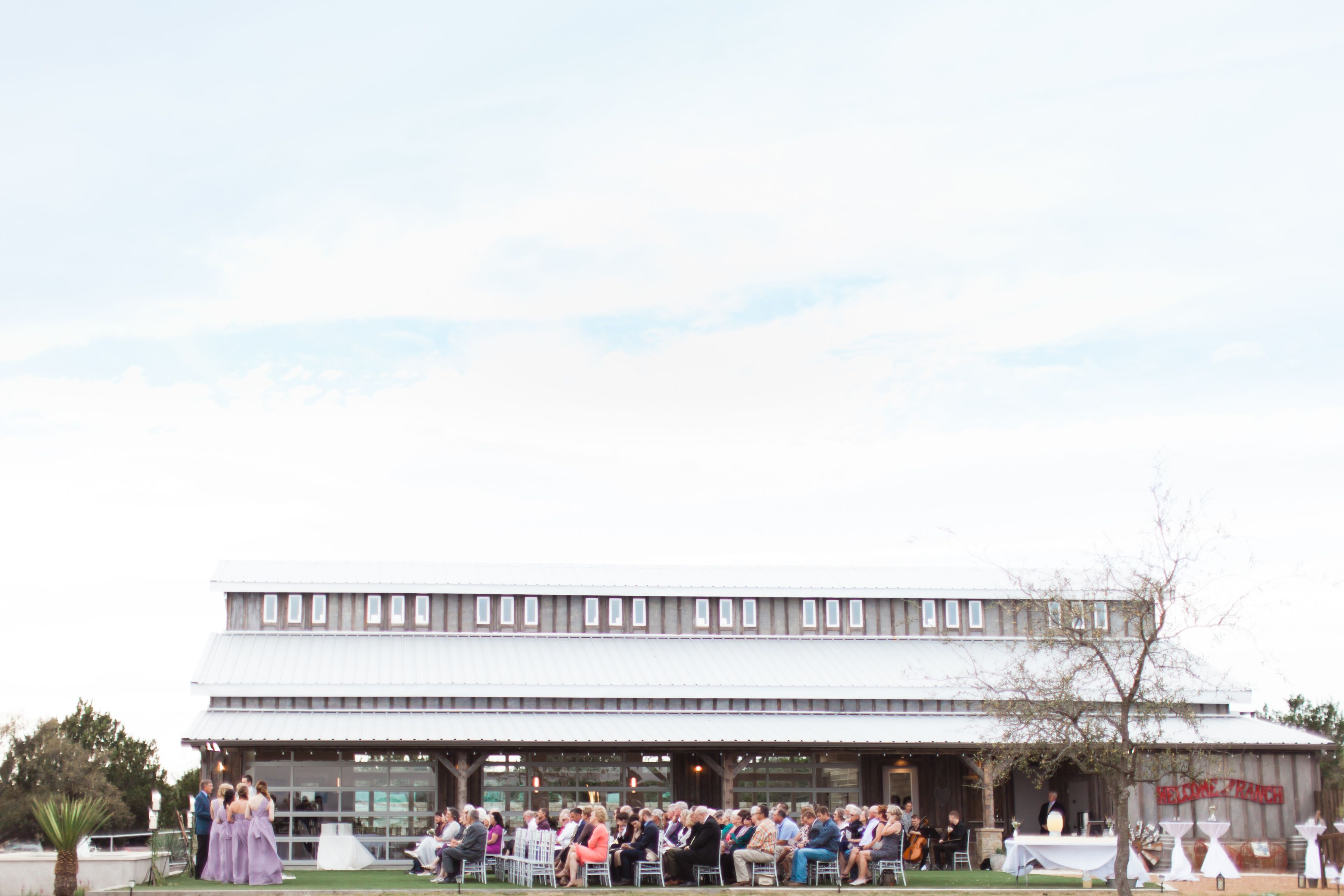 Side angle of the venue! Fredericksburg, Texas Wedding