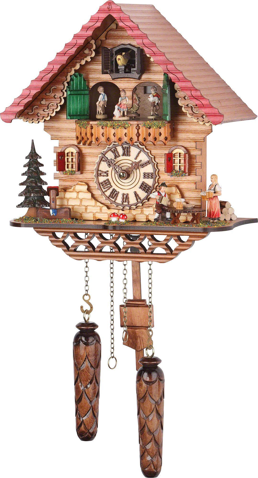 Cuckoo Clock Quartz Movement Chalet Style 29cm By Trenkle Uhren
