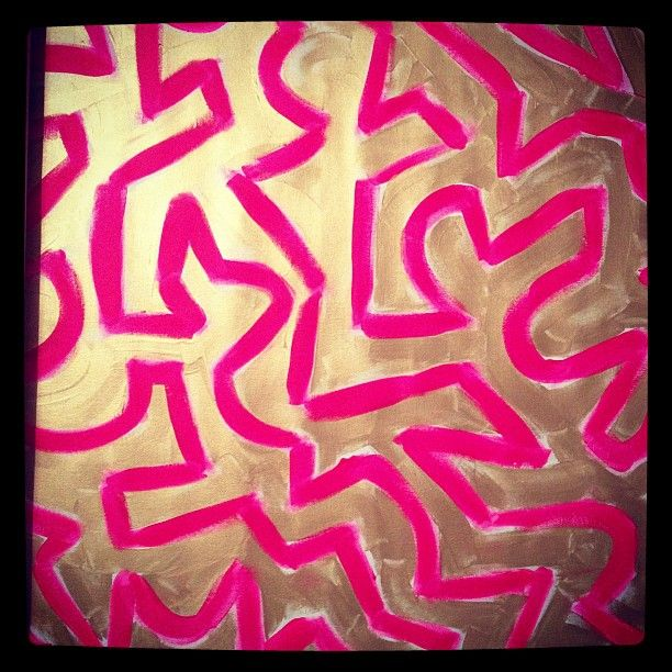 HOT PINK + GOLD  #art from cocoa & hearts