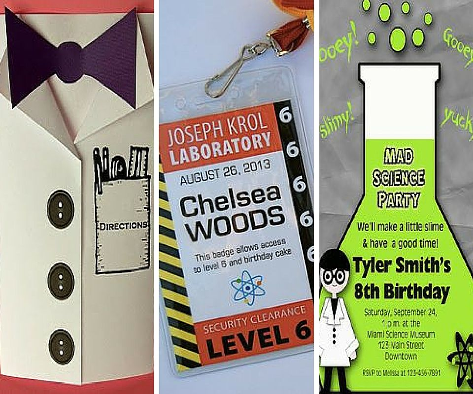 Science Party Invites | Mad Science Party | Pinterest | Science ...