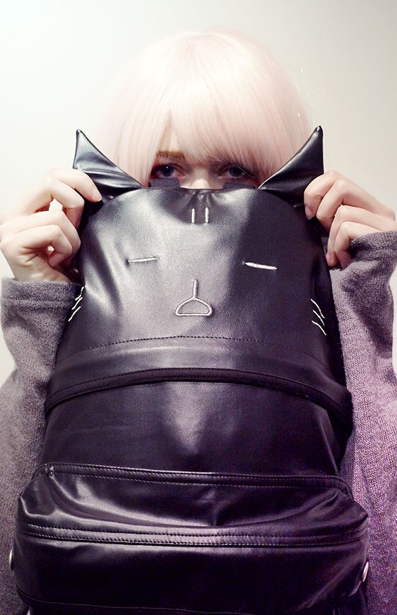 Spring Coordinate 2013 / MINT NeKO Gleaming Neko Face Backpack $128.95