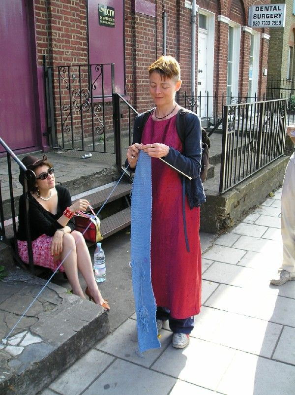 """Rachel Gomme """" Ravel is a durational performance created for Camberwell Arts Festival. I laid a line of yarn along a 5-km route through Camberwell, connecting places that in the past were related to..."""
