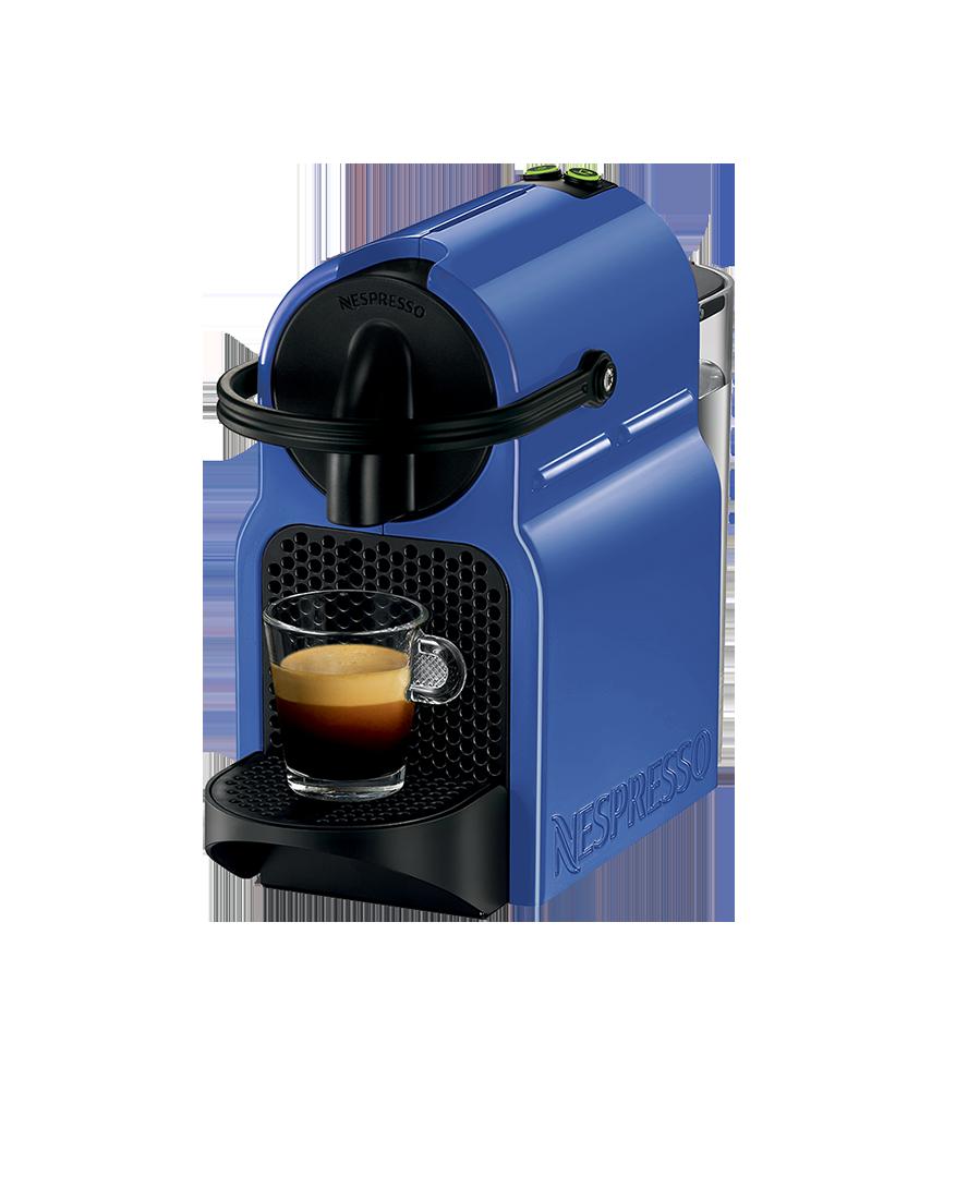 New Nespresso Inissia Coffee Machine Blueberry Blue