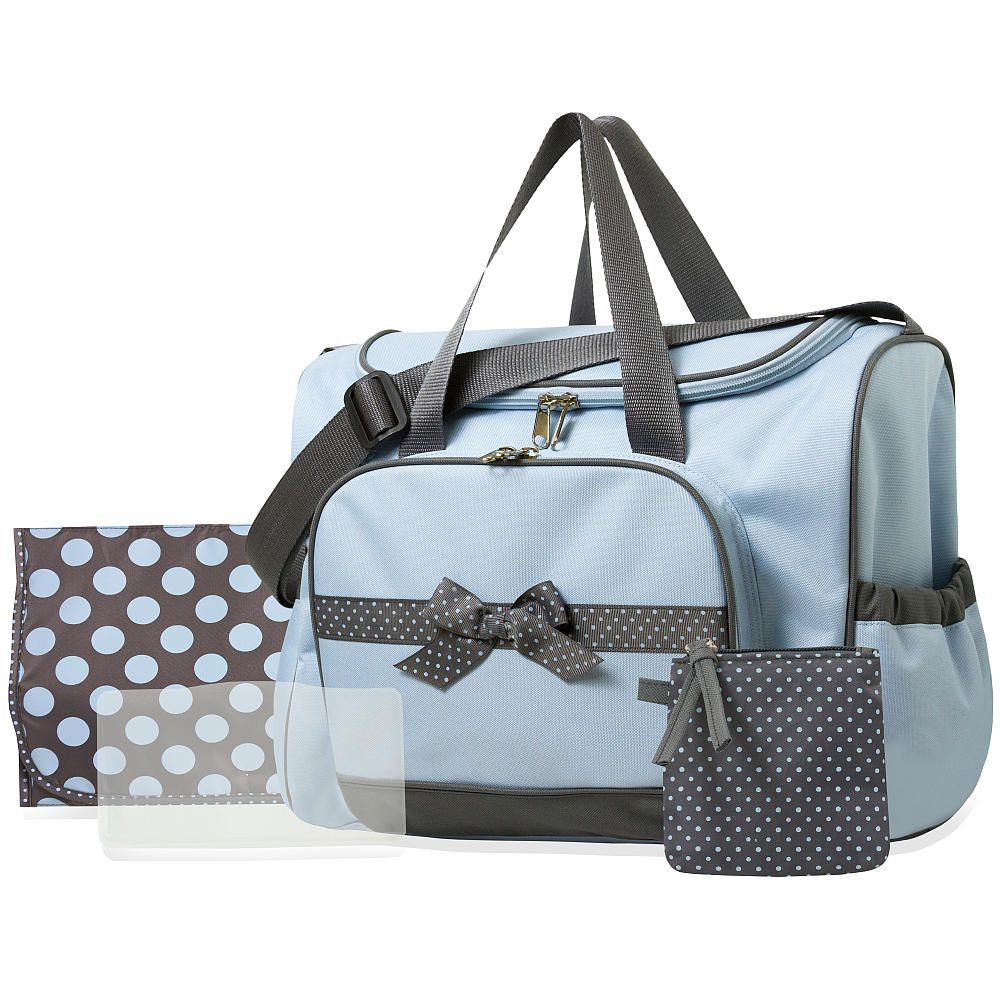 Baby Essentials 4 In 1 Diaper Bag Blue Babies R Us