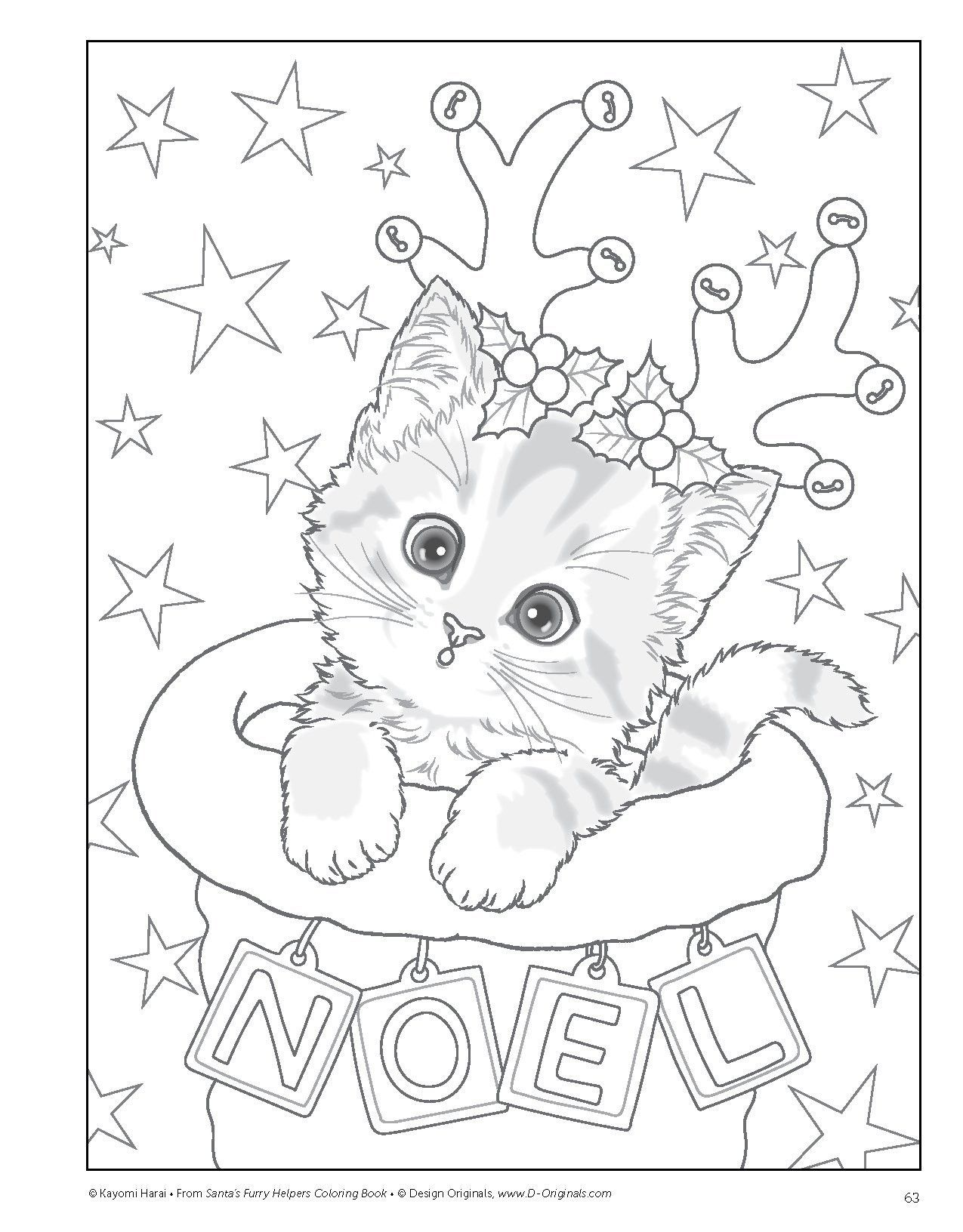 Christmas Kitty Coloring Pages Coloring Pages Christmas